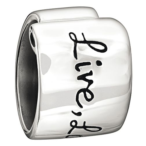 Chamilia Live, Laugh, Love sterling silver bead - Product number 1349155