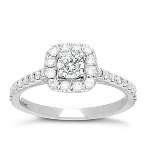 Neil Lane 14ct White Gold 0.25ct Diamond Shaped Band - Product number 1349589