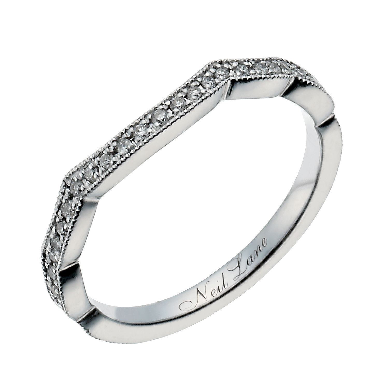 Neil Lane 14ct white gold 0.15ct diamond shaped band - Product number 1349856