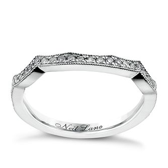 Neil Lane 14ct White Gold 0.18ct Diamond Shaped Ring - Product number 1350382