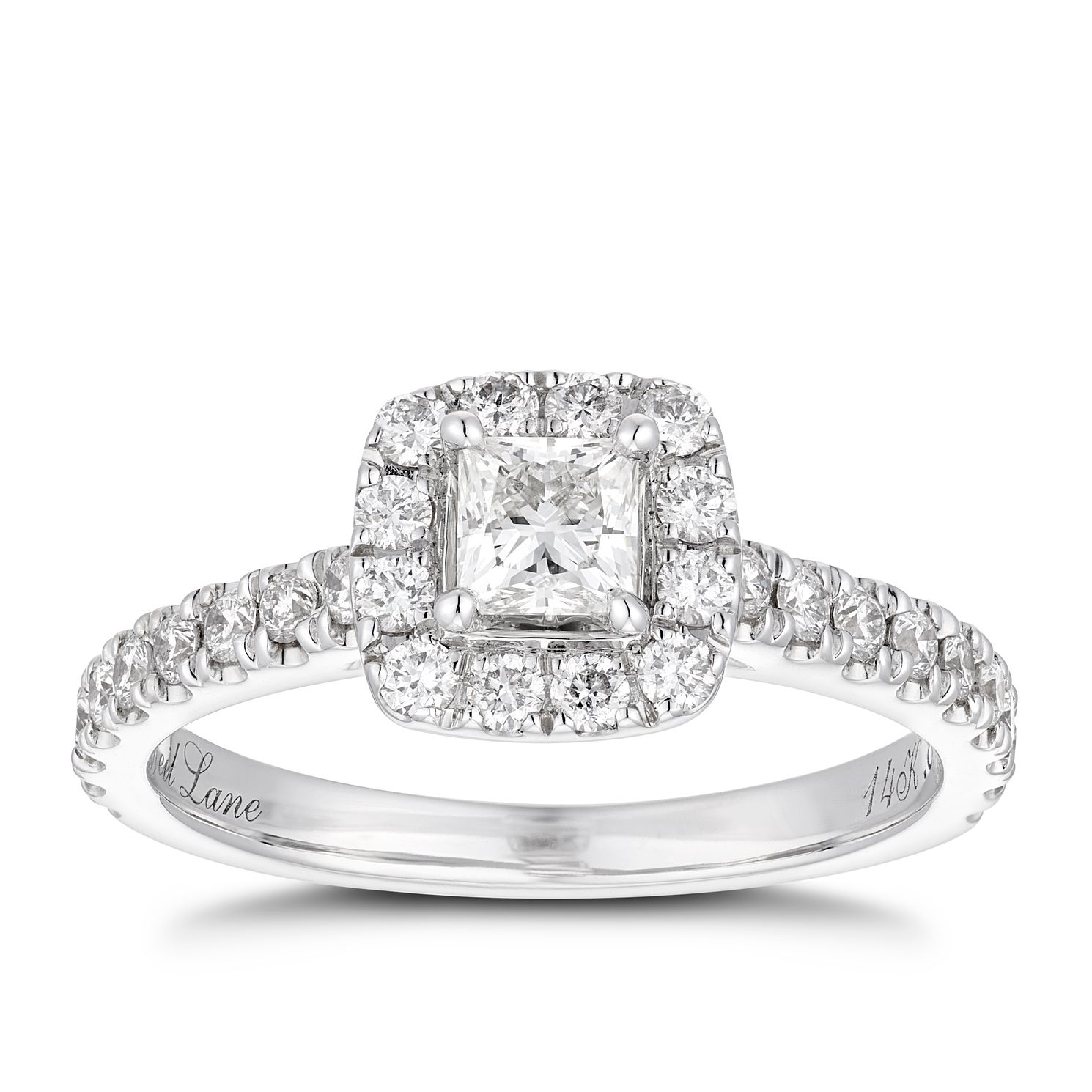 Neil Lane 14ct White Gold 0.81ct Diamond Halo Ring - Product number 1350528