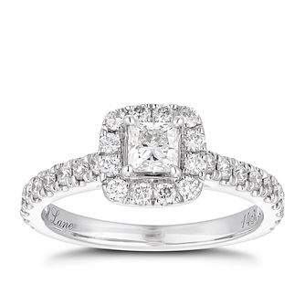 Neil Lane 14ct White Gold 0.81ct Total Diamond Halo Ring - Product number 1350528