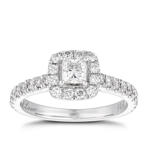 8504d9324 Neil Lane 14ct white gold 0.81ct diamond halo ring - Product number 1350528