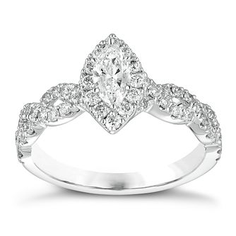 Neil Lane 14ct white gold 0.87ct diamond marquise ring - Product number 1350773