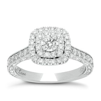 Neil Lane 14ct White Gold 0.87ct Total Diamond Halo Ring - Product number 1351575