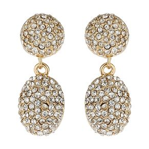 Mikey Yellow Crystal Drop Earrings - Product number 1356186
