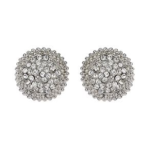 Mikey White Pave Crystal Stud Earrings - Product number 1356216