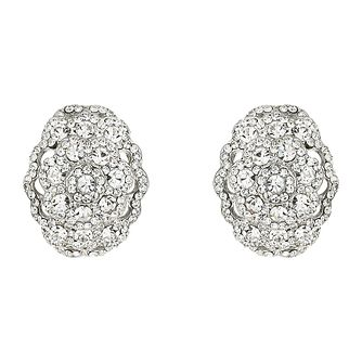 Mikey White Crystal Oval Clip On Earrings - Product number 1356828