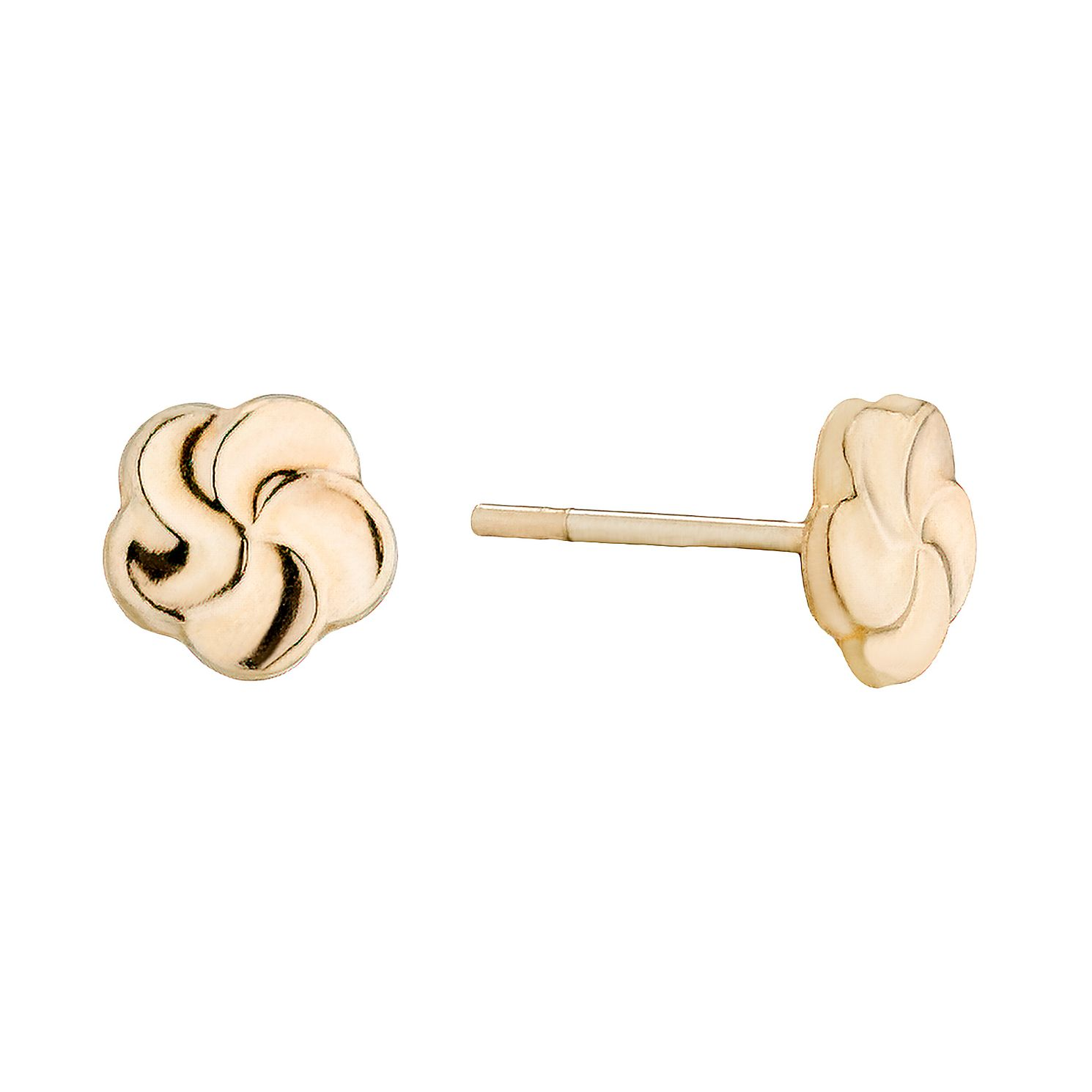 9ct Gold Swirl Stud Earrings - Product number 1357689