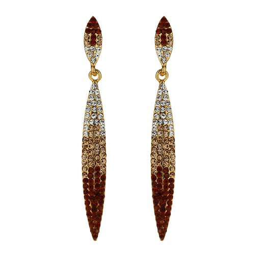 Mikey Gold Tone Graduated Crystal Earrings - Product number 1360000