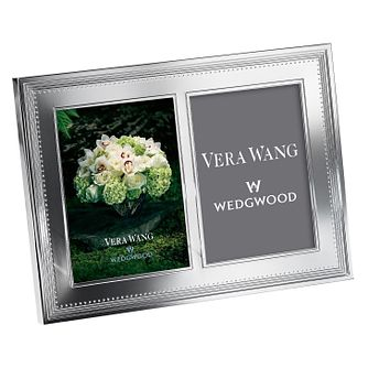 Wedgwood Vera Wang Grosgrain silver-plated double frame - Product number 1361503