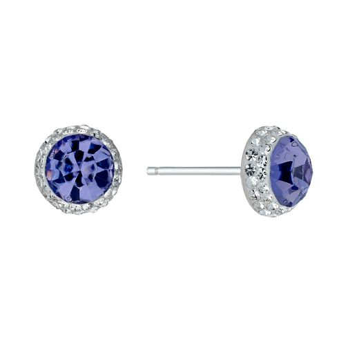 Silver Crystal Stud Earrings - Product number 1362402