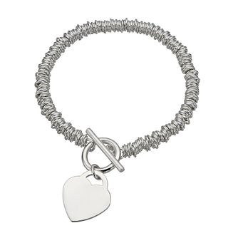 Sterling Silver Candy Heart Bracelet - Product number 1364111