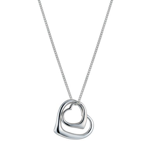 Sterling Silver Double Heart Pendant - Product number 1364146