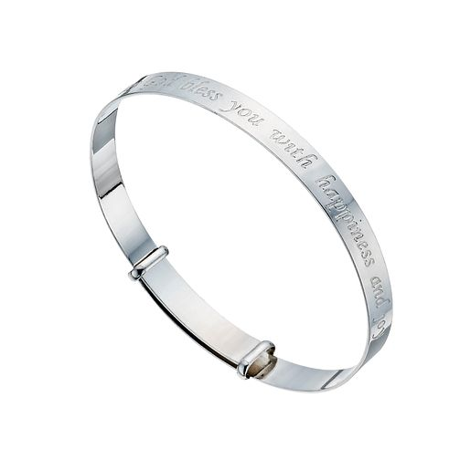 Sterling Silver Children's 'May God' Expanding Bracelet - Product number 1364502