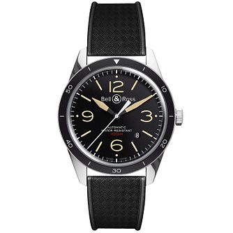 Bell & Ross men's stainless steel black rubber strap watch - Product number 1365886