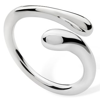 Lucy Quartermaine Silver 925 Open Drop Ring -  Large - Product number 1376098