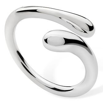 Lucy Quartermaine Silver 925 Open Drop Ring - Medium - Product number 1376268
