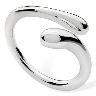 Lucy Quartermaine Silver 925 Open Drop Ring -  Small - Product number 1376276