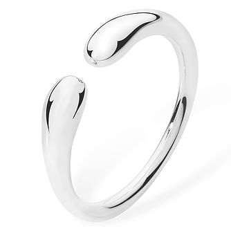 Lucy Quartermaine Silver 925 Open Double Drop Ring -  Medium - Product number 1376292