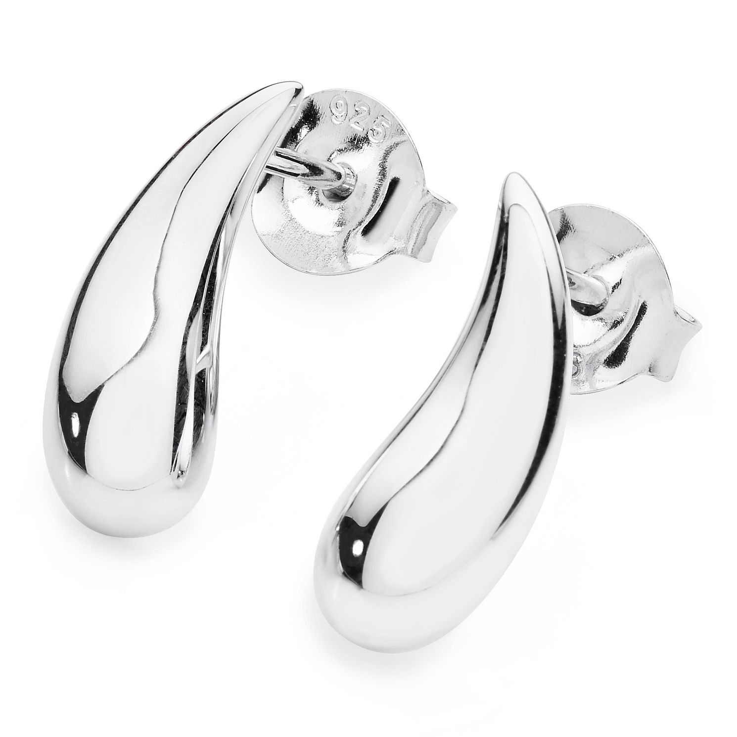 Lucy Quartermaine Silver 925 Droplet Stud Earrings - Product number 1376314