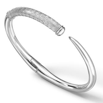 Rachel Galley Silver 925 Cherish Zigzag Spike Bangle - Product number 1376381