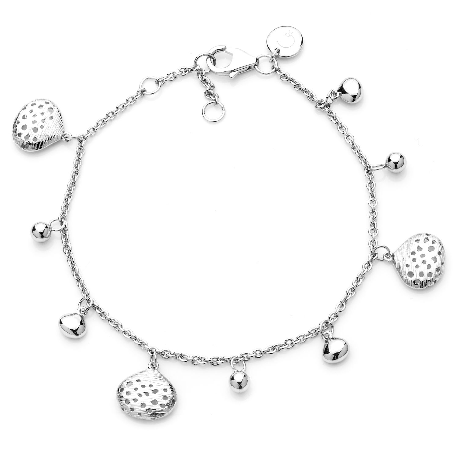 Rachel Galley Silver 925 Cala Shell Charm Bracelet - Product number 1376446