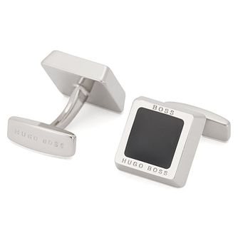 BOSS Franzisko Brass Square Black Cufflinks - Product number 1380745