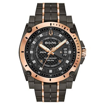 Bulova Precisionist Men's Two Tone Ip Bracelet Watch - Product number 1382861