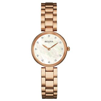 Bulova Classic Ladies' Rose Gold Tone Bracelet Watch - Product number 1382888