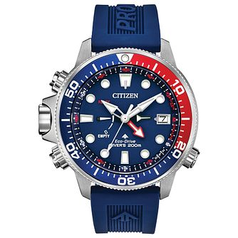 Citizen Promaster Aqualand Men's Blue Strap Watch - Product number 1383116