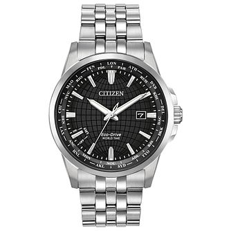 Citizen Worldtime Men's Stainless Steel Bracelet Watch - Product number 1383221
