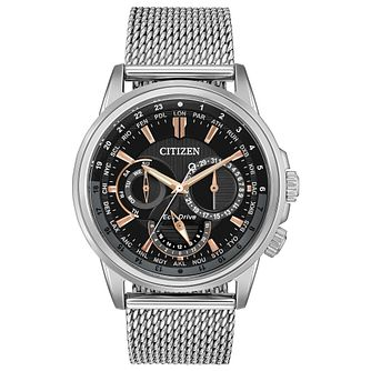 Citizen Calendrier Men's Stainless Steel Mesh Bracelet Watch - Product number 1383434