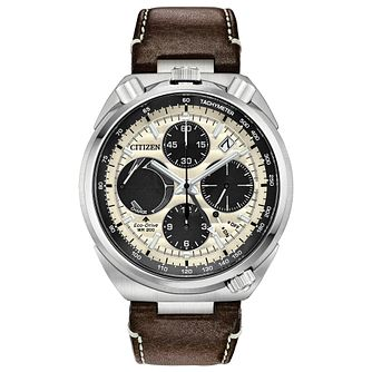 Citizen Promaster Tsuno Men's Brown Leather Strap Watch - Product number 1383566