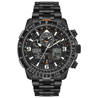 Citizen Promaster Skyhawk A-T Men's Black Ip Bracelet Watch - Product number 1383582