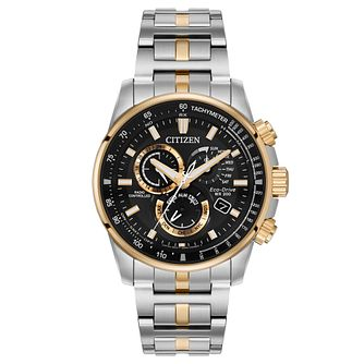 Citizen Pcat Men's Two Tone Bracelet Watch - Product number 1383590