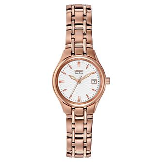 Citizen Corso Ladies' Rose Gold Tone Bracelet Watch - Product number 1383612