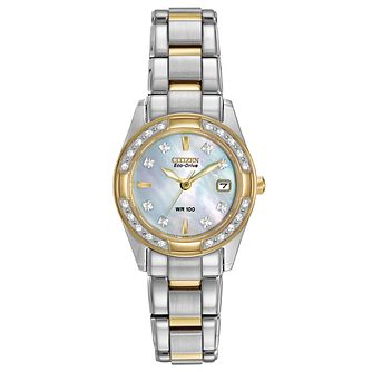 Citizen Regent Diamond Ladies' Two Tone Bracelet Watch - Product number 1383833