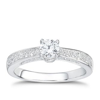 Tolkowsky 18ct White Gold 2/3ct I-I1 Diamond Ring - Product number 1397346