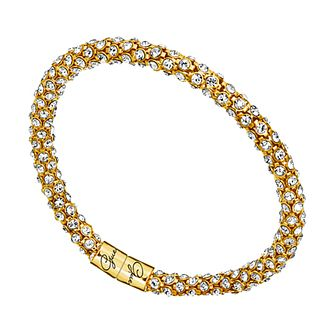 Guess Gold Tone Wrap-Around Crystal Bracelet - Product number 1398490