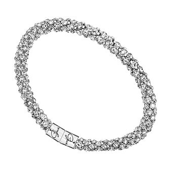 Guess Silver Tone Wrap-Around Crystal Bracelet - Product number 1398504