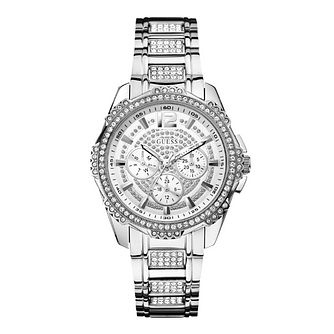 Guess Ladies' Crystal Stainless Steel Bracelet Watch - Product number 1407430