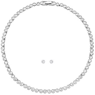 Swarovski crystal tennis necklace & earrings set - Product number 1407600