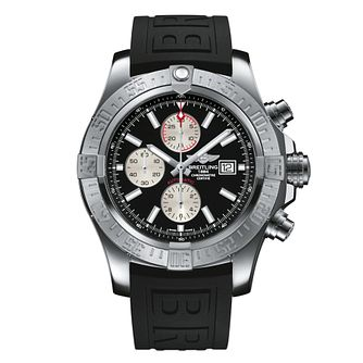Breitling Super Avenger II men's black rubber  strap watch - Product number 1407708