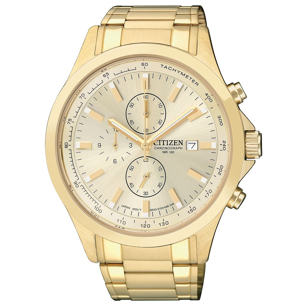 Citizen Men's Chronograph Gold-Plated Bracelet Watch - Product number 1409026