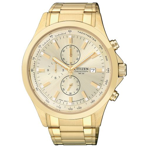 Citizen Men's Chronograph Gold Plated Bracelet Watch - Product number 1409026