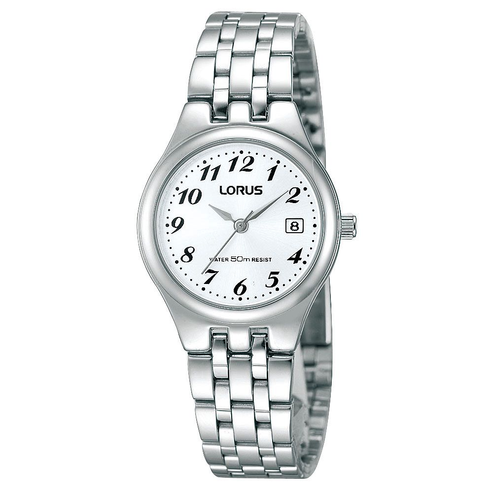 Lorus Ladies' White Dial Stainless Steel Bracelet Watch - Product number 1409352