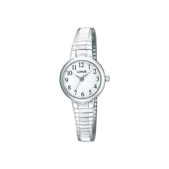 Lorus Ladies' White Dial Stainless Steel Bracelet Watch - Product number 1409379