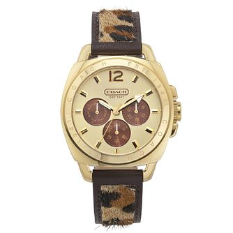 Coach Boyfriend ladies' gold-tone strap watch - Product number 1412124