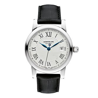 Montblanc Star Roman Men's Black Leather Strap Watch - Product number 1413384